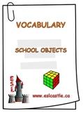 School Objects Vocabulary Handout