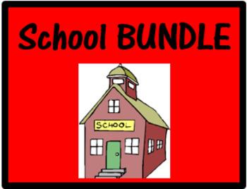 Schule School Objects and Subjects in German Bundle