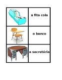 Material escolar (School Objects in Portuguese) Concentration Games