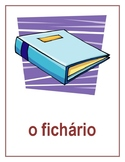 Material escolar (School Objects in Portuguese) Posters