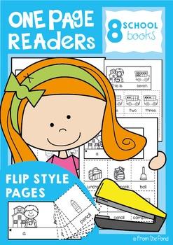 School One Page Readers - Printable Flip Books