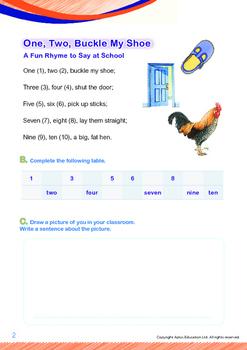 School - One, Two, Buckle My Shoe - Grade 1
