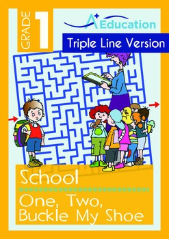 School - One, Two, Buckle My Shoe (with 'Triple-Track Writing Lines')