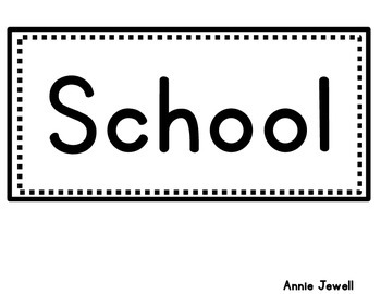 Back to School: School Poem for Bulletin Board or Pocket Chart
