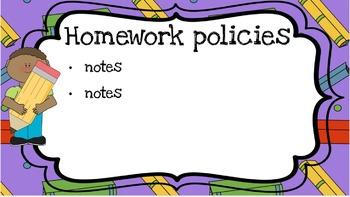 School Open House Powerpoint