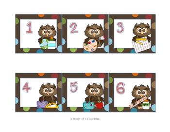 Back to School Owl Calendar Set