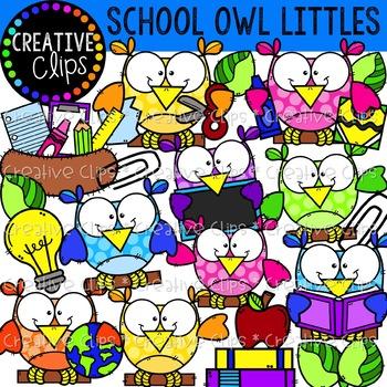 School Owl Littles: School Clipart {Owl Clipart}