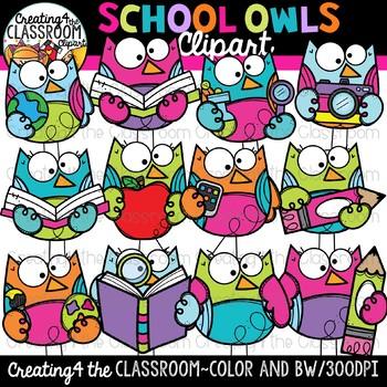 School Owls Clipart {Owl Clipart}