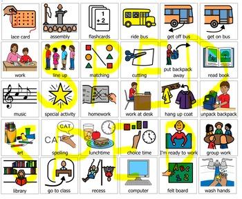 School PEC symbols 120 communication system boardmaker PCS