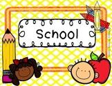 School Thematic Unit (Sampler) - ESL/EFL Preschoolers