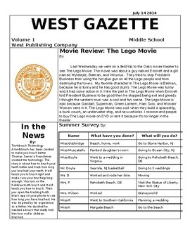 School Paper Template by Lauren DeSanto | Teachers Pay Teachers