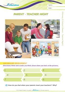 School - Parent-Teacher Night - Grade 3