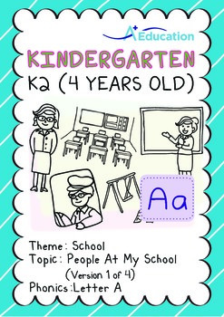School - People at My School (I): Letter A - Kindergarten,