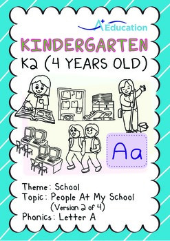 School - People at My School (II): Letter A - Kindergarten, K2 (4 years old)