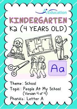 School - People at My School (IV): Letter A - Kindergarten, K2 (4 years old)
