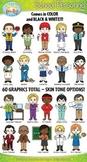 School Personnel Characters Clipart {Zip-A-Dee-Doo-Dah Designs}