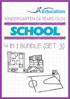 4-IN-1 BUNDLE - School (Set 3) - Kindergarten, K2 (4 years old)