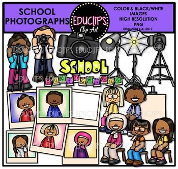 School Photographs Clipart Bundle {Educlips Clipart}