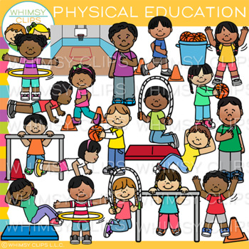 School Physical Education Clip Art Action Clip Art By Whimsy Clips