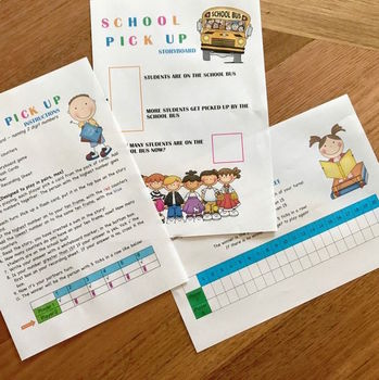 School Pick Up Instructional Math Game