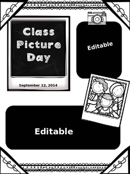 School Picture Day Reading Response Activities and Notes