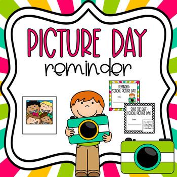 School Picture Day Reminder *Freebie*