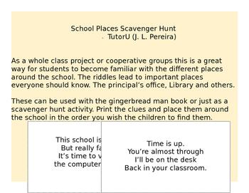 School Places Scavenger Hunt