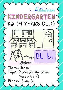 School - Places at My School (IV): Blend BL - Kindergarten