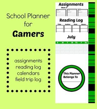 School Planner 2015-2016 Gamer Theme