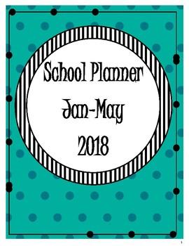 School Planner Jan - May 2018