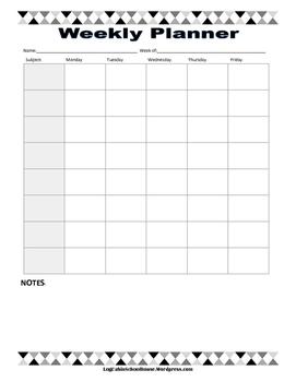 School Planner Printables