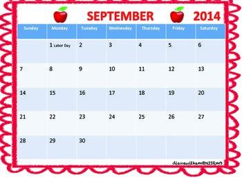 School Planning Calendar