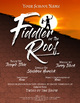 School Play Program Photoshop Template - Fiddler on the Roof