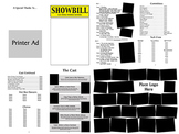 School Play Program Photoshop Template - Guys & Dolls (No Logo Version)