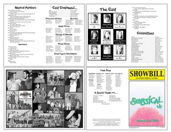 School Play Program Photoshop Template Seussical Includes Logo - Play program template