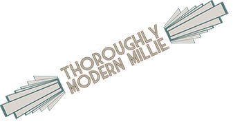School Play Program Photoshop Template - Thoroughly Modern Mille (Includes Logo)