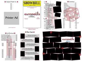 School Play Program Template Guys Dolls Logo Included TpT - Play program template