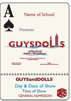 School Play Program Template - Guys & Dolls (Logo Included)