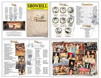 School Play Program Template - Pirates of Penzance (Logo Included)