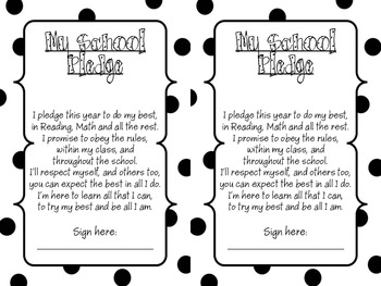 School Pledge Polka Dots