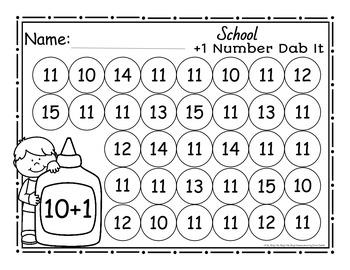 School Plus 1 Number Dab It