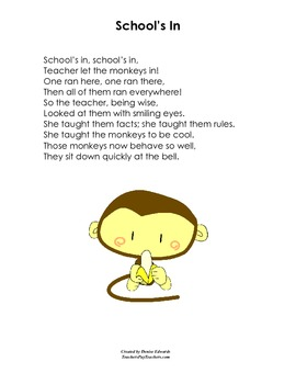 School Poems, A Collection of Poetry for Kids--allusion, alliteration, etc