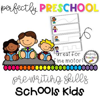 School Kids Prewriting Skills