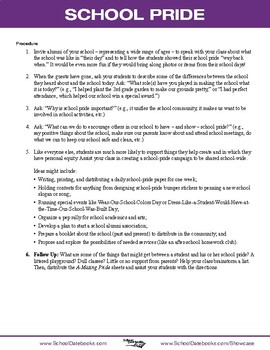 School Pride Character Lesson Plan