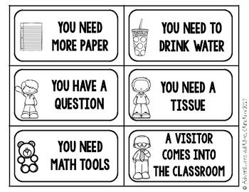 School Procedure Task Cards (PBIS)