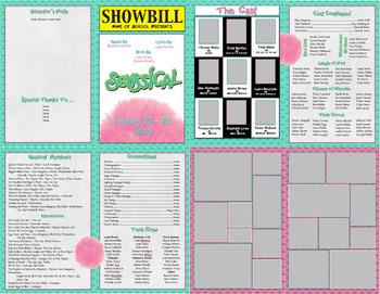 School Play Program Photoshop Template - Seussical (No Logo Version)