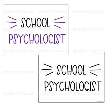 School Psychologist Appreciation Posters