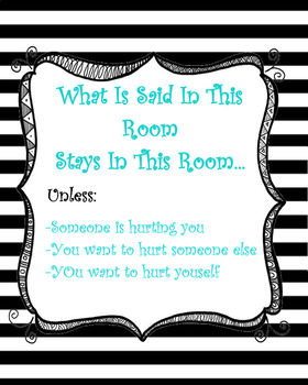 School Psychologist/Counselor Confidentiality Poster
