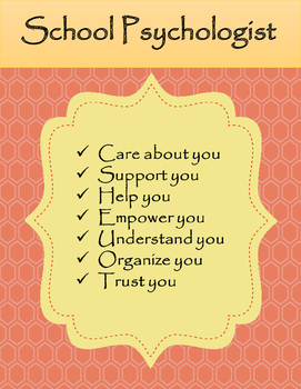 School Psychologist Decor For Your Office And Door By The