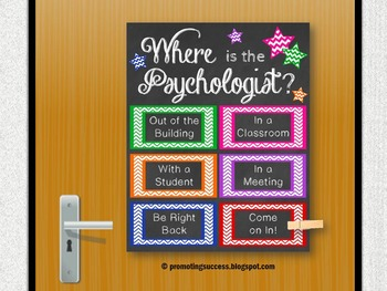 Where is the Psychologist Gift Office Decor Door Sign Appreciation Week Gift